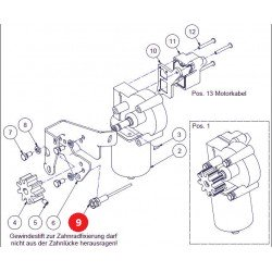 Sensor de efecto Hall M8x1x30, cable 500 mm