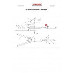 Cabezal cilindro aire comprimido mecanismo cierre puerta de entrada