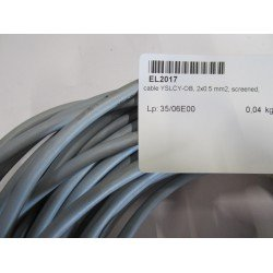 Cable YSLCY-OB 2x0.5 mm2