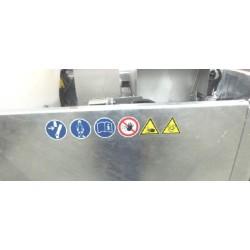 Adhesivo con seis pictogramas - Horizontal